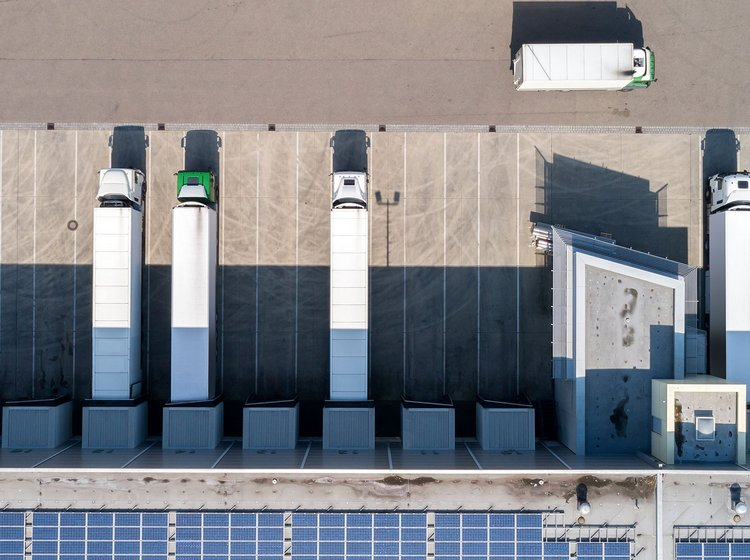 a green logistics fleet